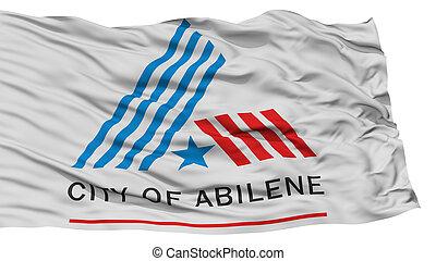 Isolated Abilene City Flag, United States of America -...