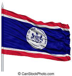 Erie Flag Flag on Flagpole, USA - Erie Flag Flag on...