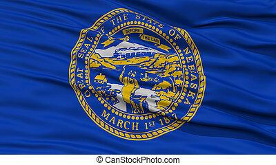 Closeup Nebraska Flag, USA state
