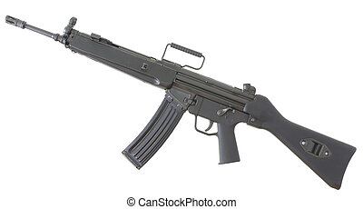 assault rifle with a high capacity magazine that is isolated...