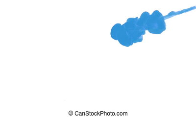 INK BACKGROUND FOR COMPOSITING. BLUE SMOKE or INK IN WATER...