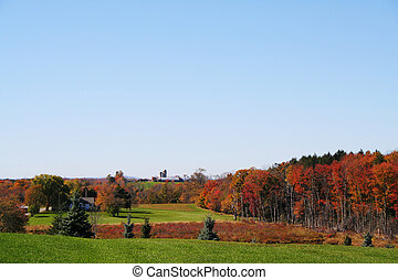 Autumn Countryside - The beautiful colors of autumn in rural...