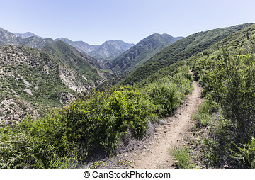 Angeles National Forest - Trail above Arroyo Seco in the San...