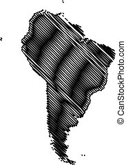 Map of South America vector illustration,