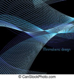 Vector abstract background with waves