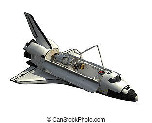 Space Shuttle Orbiter On White Background