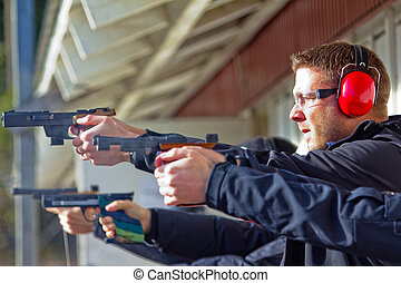 Shooting Range - Photograph taken during a target...