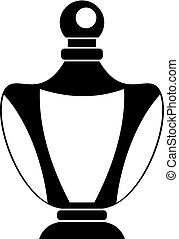 Elegant woman perfume bottle icon