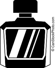 Jar of perfume icon, simple style - Jar of perfume icon in...