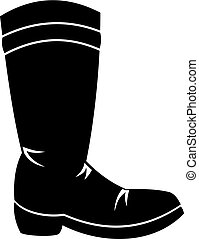 Cowboy boot icon, simple style - Cowboy boot icon in simple...