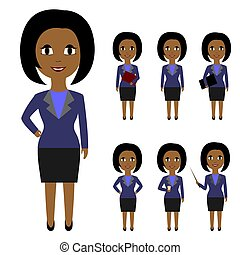 Set of business people in flat style isolated on white...