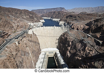 Hoover Dam Bridge View - View of Historic Hoover Dam from...