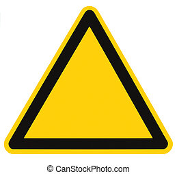 Blank Danger And Hazard Triangle Sign Isolated Macro - Blank...