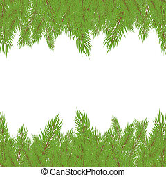 Christmas Fur-tree. Vector illustration - Christmas green...