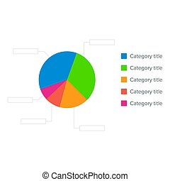 Colorful business pie chart for graphic design, documents,...