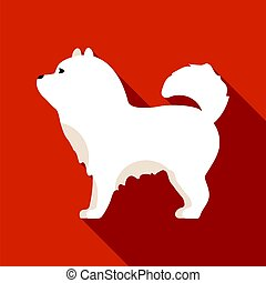 Chow-chow vector icon in flat style for web - Chow-chow...