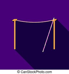 Tightrope icon in flat style isolated on white background....