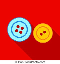 Buttons icon of vector illustration for web and mobile