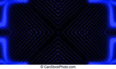 Blue wire frame animation over black looping background