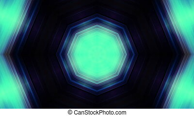 Kaleidoscopic animated blue green looping animated backdrop...