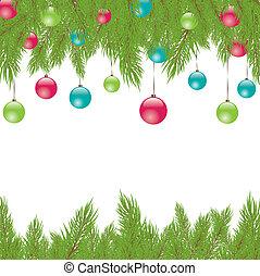 Christmas Fur-tree Vector illustration - Christmas green...