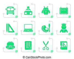 Stylized School and education objects
