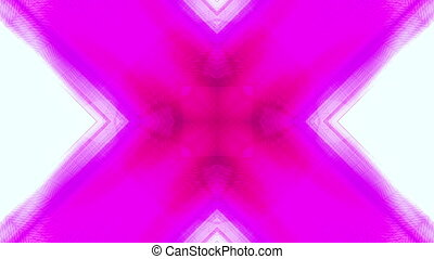 X wire frame in magenta and blue VJ looping background -...