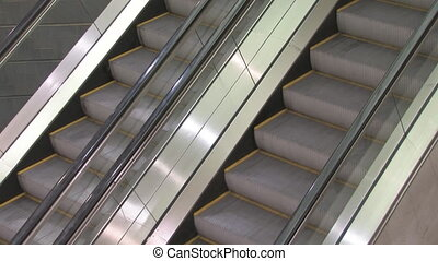Escalators - Escalators moving in different directions