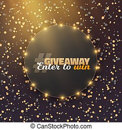 Vector Giveaway Button. Button with Confetti - Illustration...