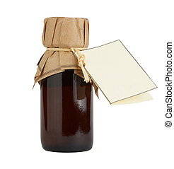 bottle of body care and beauty products with label isolated...