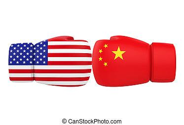 Resultado de imagen para guantes de box + china y EE.UU.