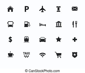 navigation icons - Vector navigation, direction, maps,...