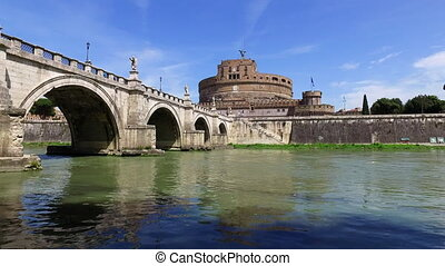 Rome city and Tibre Italy - Rome May 26, 2016, Castel Sant...