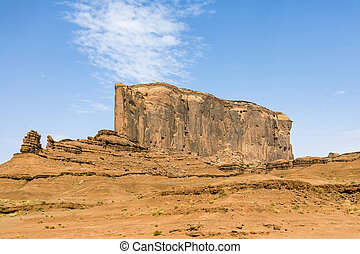 Elephant Butte is a giant sandstone formation in the...
