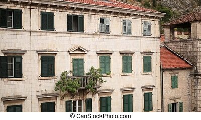 The Old Town of Kotor. City streets in Montenegro