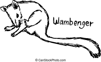 wambenger - vector illustration sketch hand drawn with black...