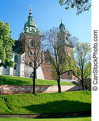 Wawel Castle in Krakow. Famous place in Poland. - Royal...