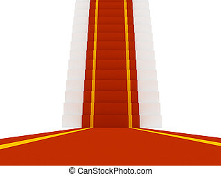 Stair with red carpent