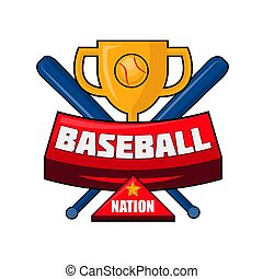 Baseball nation emblem - Vector illustration of the cup and...
