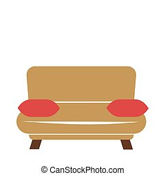 Brown couch with pillows