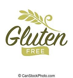 Gluten free emblem - Vector illustration of gluten free...