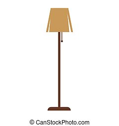 Brown standard lamp - Vector illustration of minimalistic...