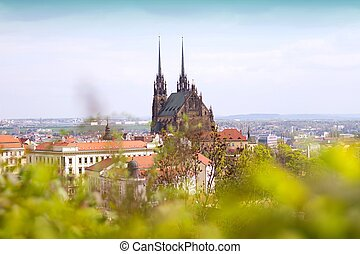 Brno - Petrov - St. Peters and Paul church in Brno city....