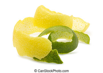 Lemon peel, lime - The composition of the pieces of lemon...