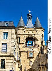 Grosse cloche, a medieval belfry in Bordeaux, France
