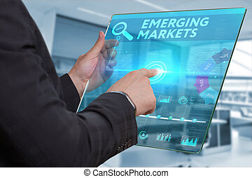 Business, Technology, Internet and network concept. Business...