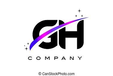 G, púrpura, H, logotipo, diseño, carta, swoosh, negro,...