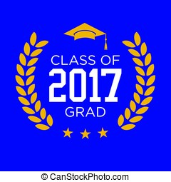 Class of 2017 Congratulations Graduate Typography with...