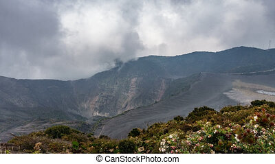 irazu highest active volcano Costa Rica Time Lapse -...