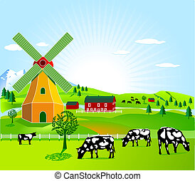 wind mill and agriculture